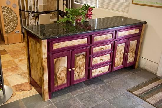 Oregon Myrtlewood & Purple heart buffet - Woodworking Project by oregoncraftsman