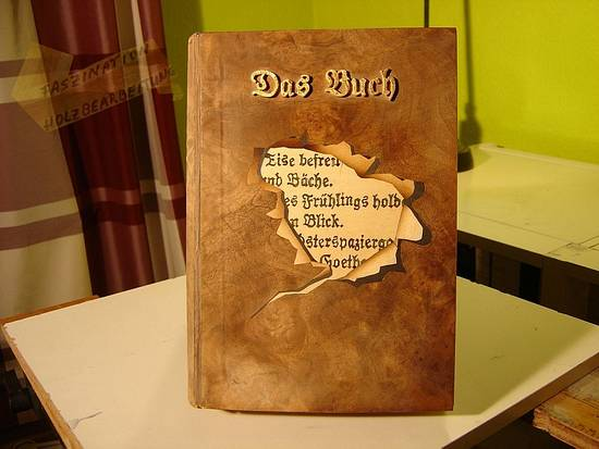 The book, of wood. - Woodworking Project by Uwe Salzmann