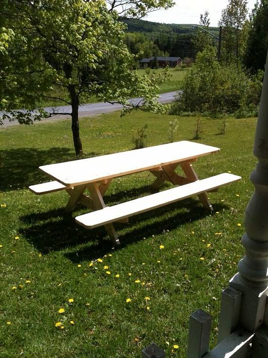 A Frame picnic table - Woodworking Project by meow