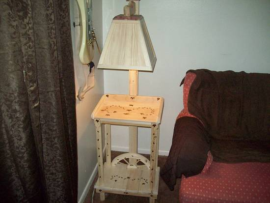 weatern lamp out of a old dog house - Woodworking Project by jim webster