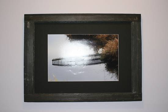 Old Window Frame Turned Picture Frame - Woodworking Project by Railway Junk Creations