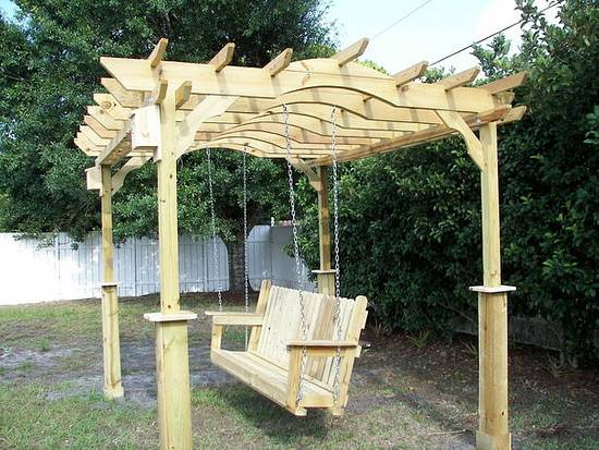 Pergola and swing - Woodworking Project by Angelo