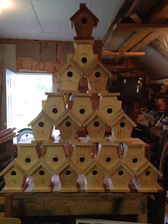 Bird houses - Woodworking Project by David A Sylvester