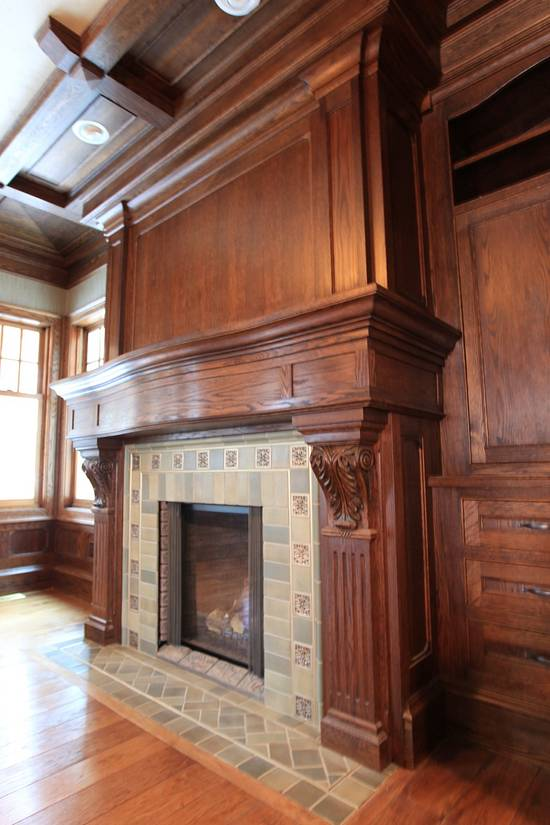 Fireplace mantel - Woodworking Project by Tom Plamann
