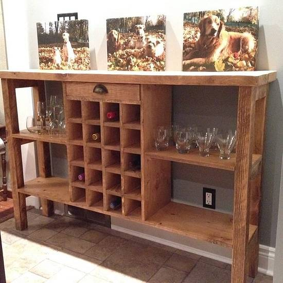 5' Wine Bar - Woodworking Project by Wowrustics