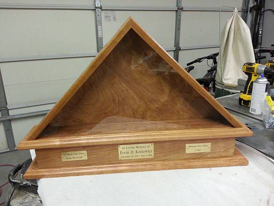 Flag Memorial Case with Urn Box - Woodworking Project by Jeff Vandenberg