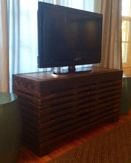 Timber Tv Console - Woodworking Project by Indistressed