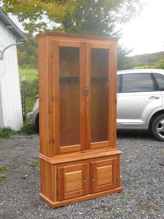Cherry Gun cabinet - Woodworking Project by Jerbear