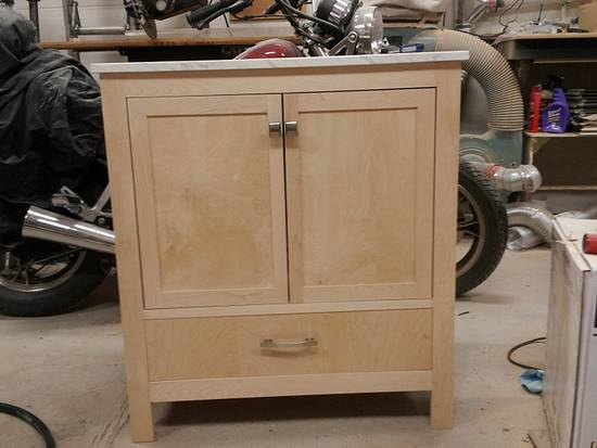 custom vanity - Woodworking Project by Prowler98