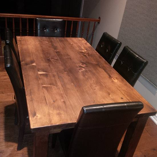 4', 5' & 6' Harvest Tables, Benches and Ladder back chairs - Woodworking Project by Wowrustics