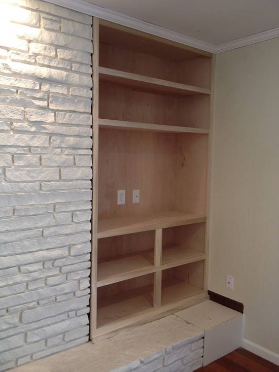 Entertainment built-in - Woodworking Project by Dave Hebert/Hebert Home Solutions