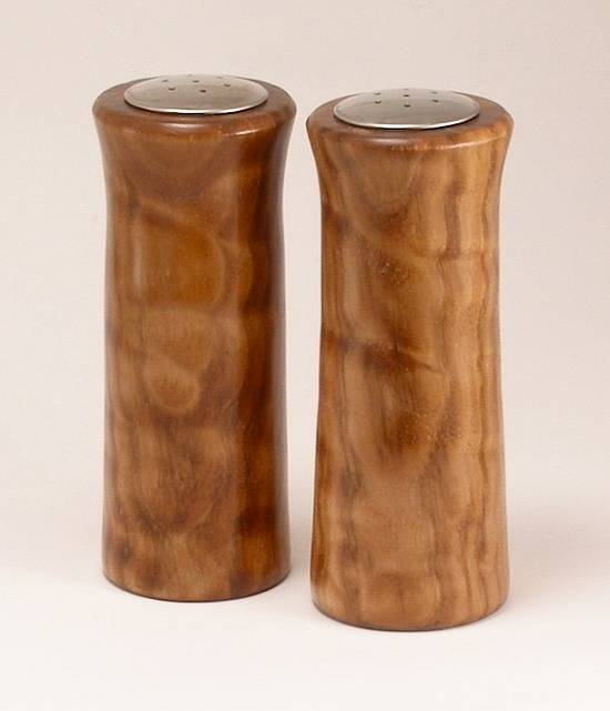 Big Leaf Maple Salt & Pepper Shakers - Woodworking Project by BarbS