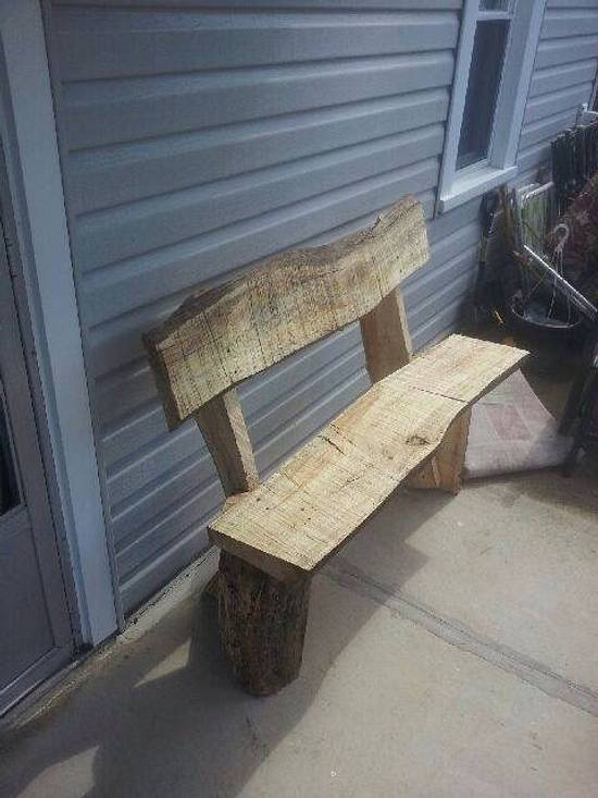 Rustic bench - Woodworking Project by twigg
