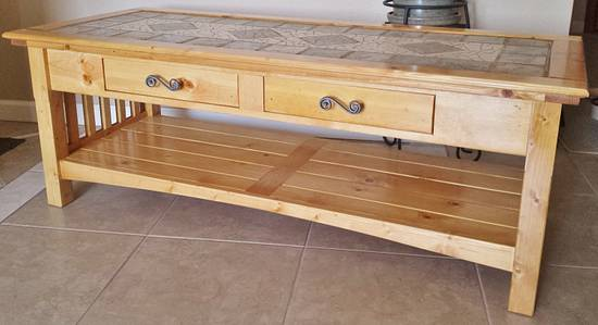 Mission Style Solid Knotty Pine Coffee Table - Woodworking Project by Angela Maddock