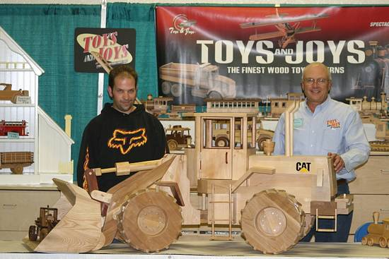At the Toys for Joys booth at the Wood show - Woodworking Project by Railway Junk Creations