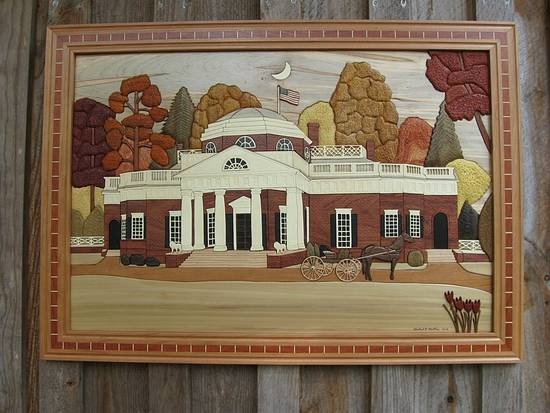 Monticello Intarsia - Woodworking Project by Woodworking Plus