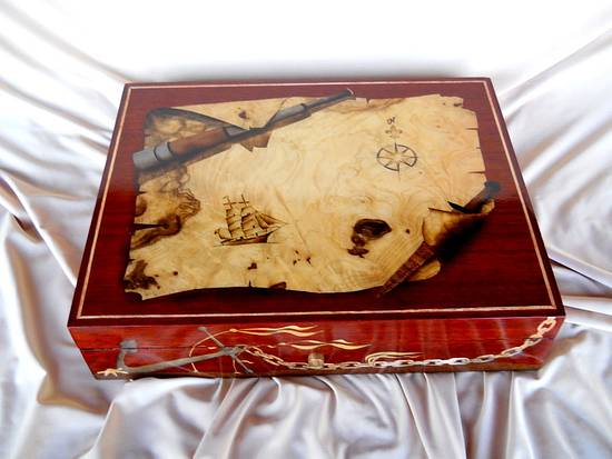 Marquetry Chart Boxes - Woodworking Project by shipwright
