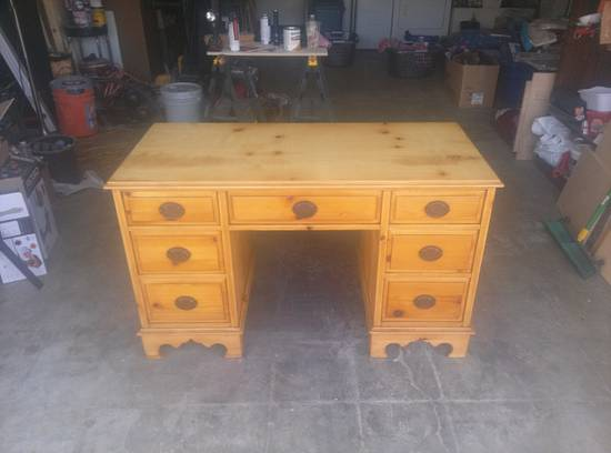 solid cedar desk - Woodworking Project by Christopher Richard