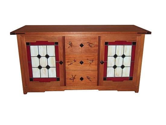 Greene and Greene entertainment center - Woodworking Project by Larry