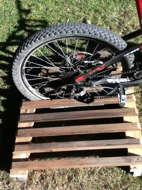 Bike Rack - Woodworking Project by Railway Junk Creations
