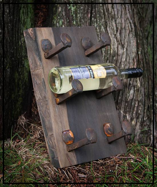 Wine Rack - Woodworking Project by Railway Junk Creations