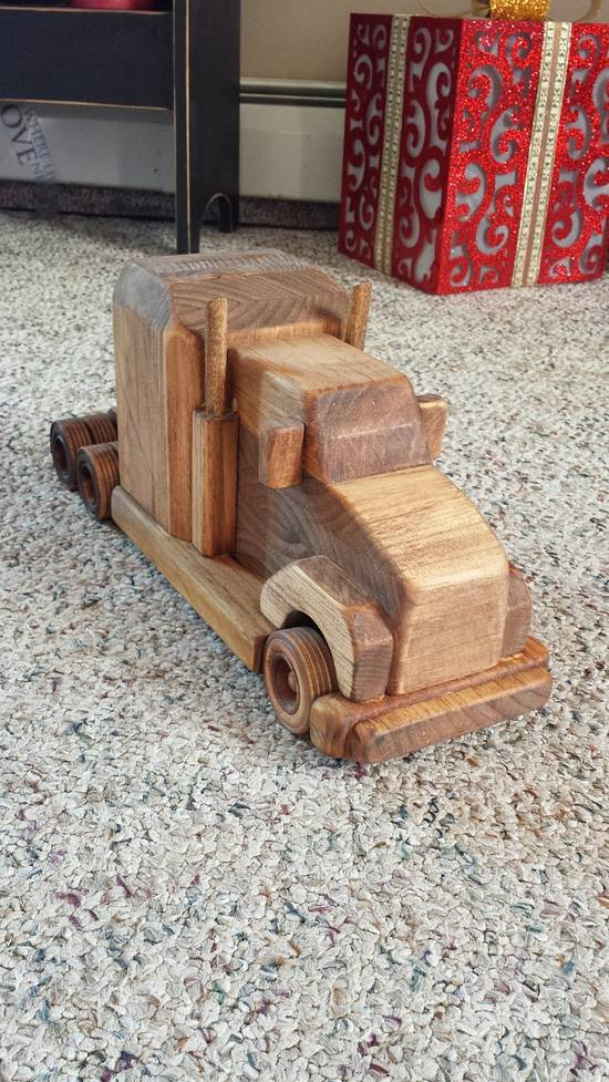 Wooden toy rig w/flatbed - Woodworking Project by Nate Ramey