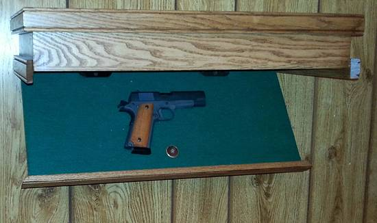 pistol hideaway shelf - Woodworking Project by bamaray64
