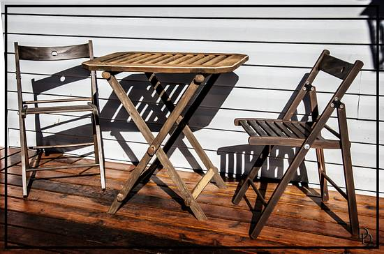 Table and Chairs - Woodworking Project by Railway Junk Creations