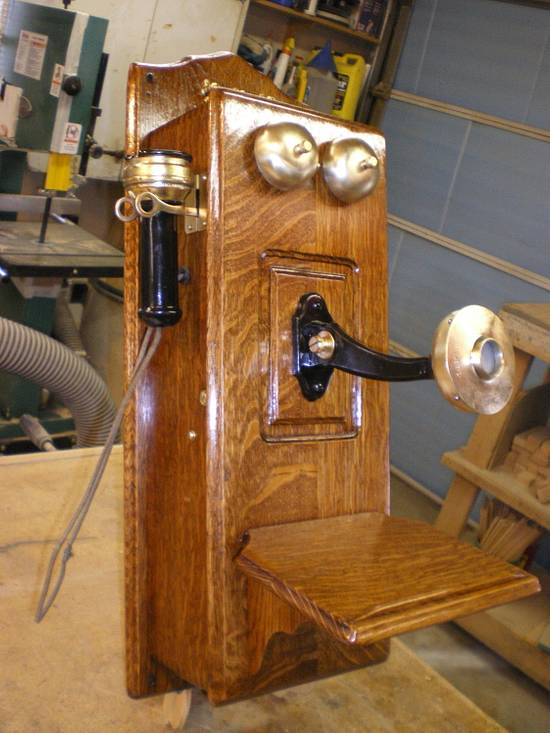 Antique Phone - Woodworking Project by Rickswoodworks