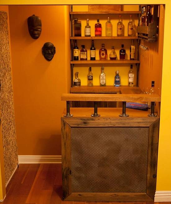 Rustic modern bar - Woodworking Project by Indistressed
