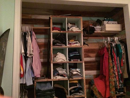 Closet lined with pallet wood - Woodworking Project by GreenwoodRuss